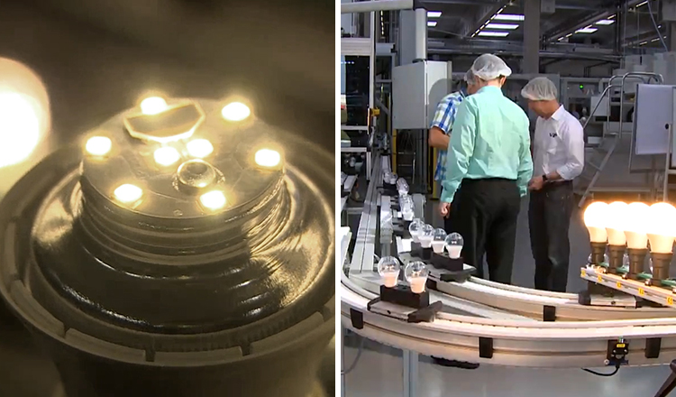 Material efficient LED production in Germany